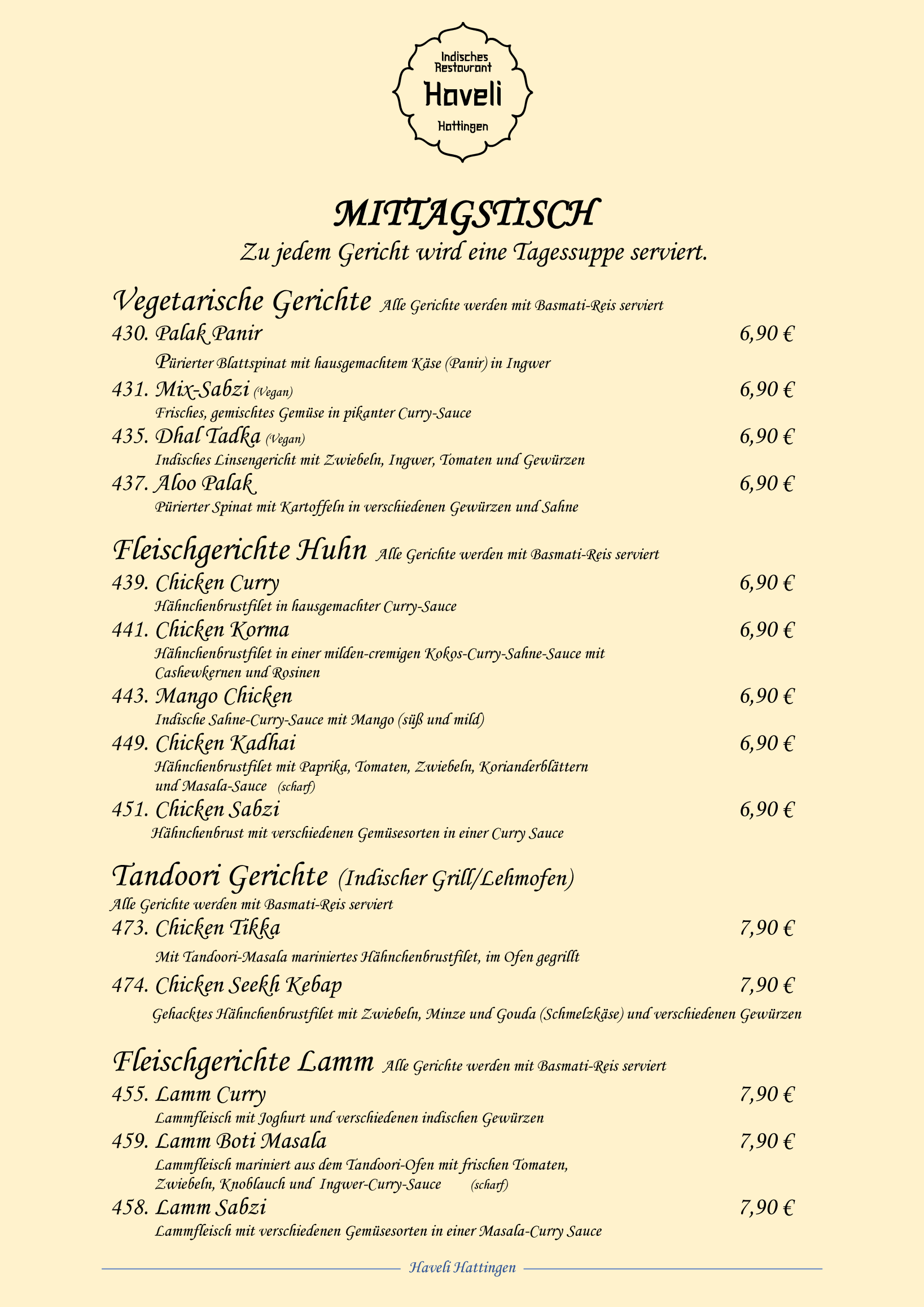 Restaurant Haveli Hattingen